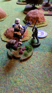 Chopping the speeder bike in half Luke is victorious!