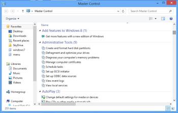Windows God Mode (Master Control Panel)