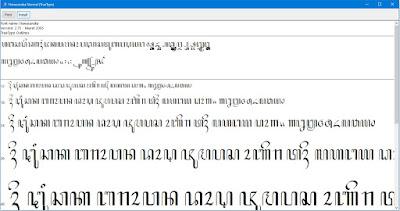 Memasang font hanacaraka normal