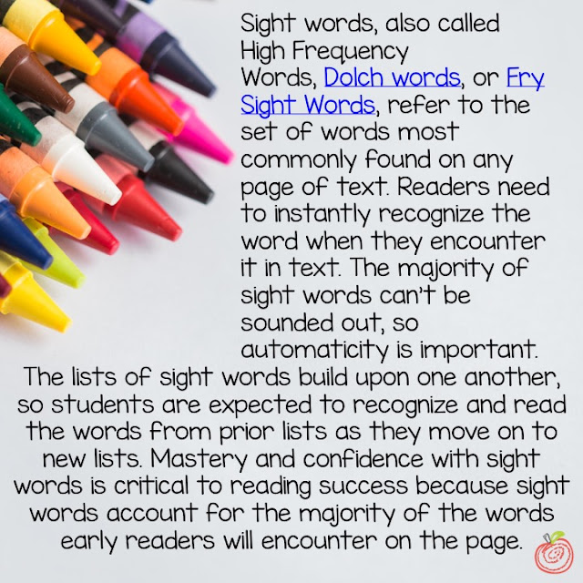 Sight word activities and ideas for K-2, homeschool, for parents