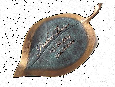 bronzen blad, blad van brons