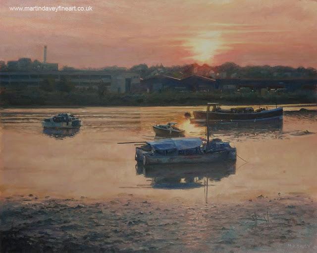 river Itchen Southampton painting Davey