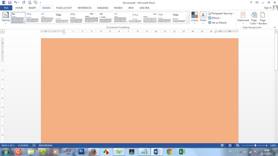 page color ms word