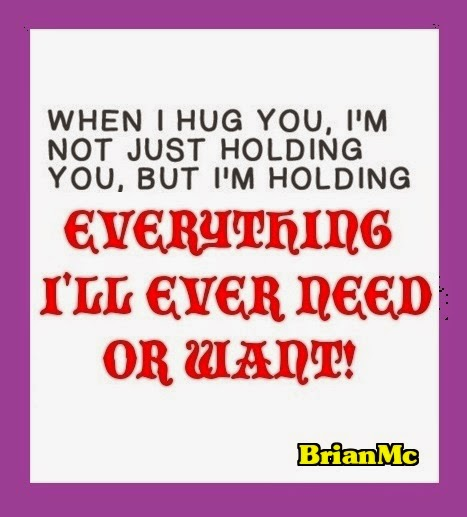 When I hug you, hug quotes