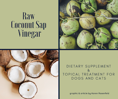 Raw coconut sap vinegar for dogs and cats