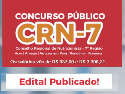 Apostila CRN7 Região (AM, PA e RO) Auxiliar Administrativo 2018