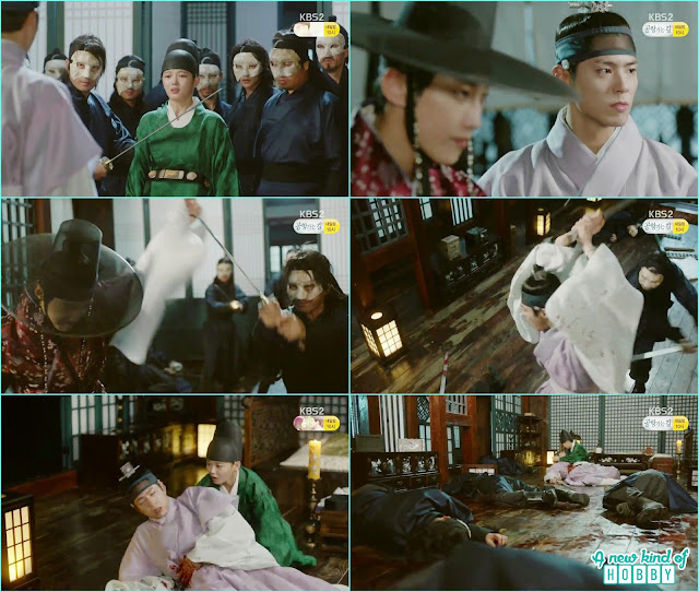 ra on hostage by the mask man then a fight between crown prince, yun sung with mask man  - Love In The Moonlight - Episode 12 Review