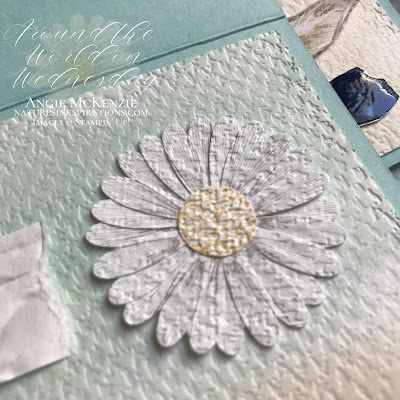 By Angie McKenzie for Around the World on Wednesday Blog Hop; Click READ or VISIT to go to my blog for details! Featuring the Beautiful World Bundle (cling stamp set and dies), the Old World Paper 3D Embossing Folder, the Tasteful Textile 3D Embossing Folder, the Daisy Lane stamp set, and the Medium Daisy Punch from the 2020-2021 Annual Catalog; #stampinup #beautifulworldstampset #beautifulworldbundle #oldworldpaper3dembossingfolder #worldofgoodsuite #tastefultextile3dembossingfolder #daisylanestampset  #naturesinkspirations #watercoloringwithwaterpainters #handmadecards #20202021annualcatalog #stampinupinks #cardtechniques #stampingtechniques #awowbloghop #aroundtheworldonwednesdaybloghop