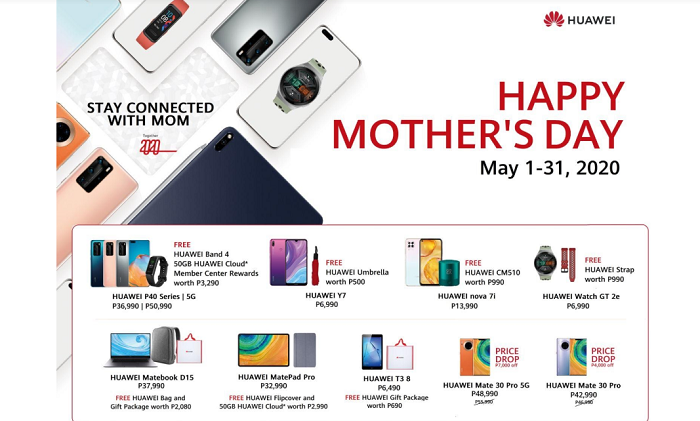 Huawei Mother's Day 2020 Promo