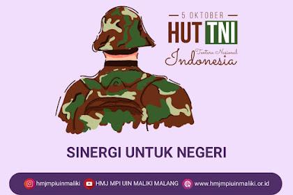HUT TENTARA NASIONAL INDONESIA KE-75 - SINERGI UNTUK NEGERI