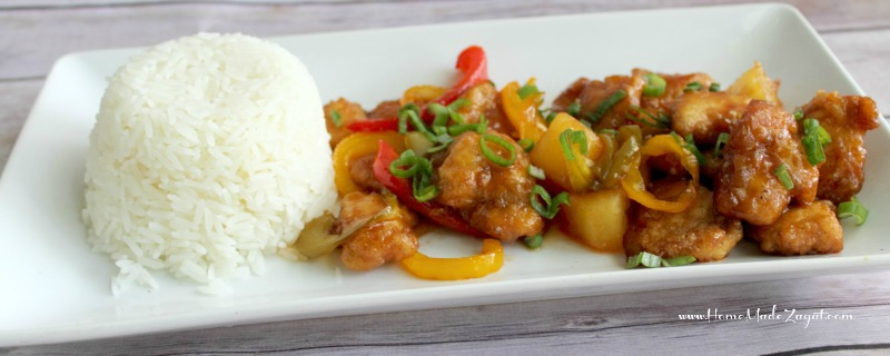 Oven baked sweet and Sour Chicken