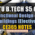 CE365 Functional Design of Buildings Note | Module 1 and 2 | S5 Civil Elective
