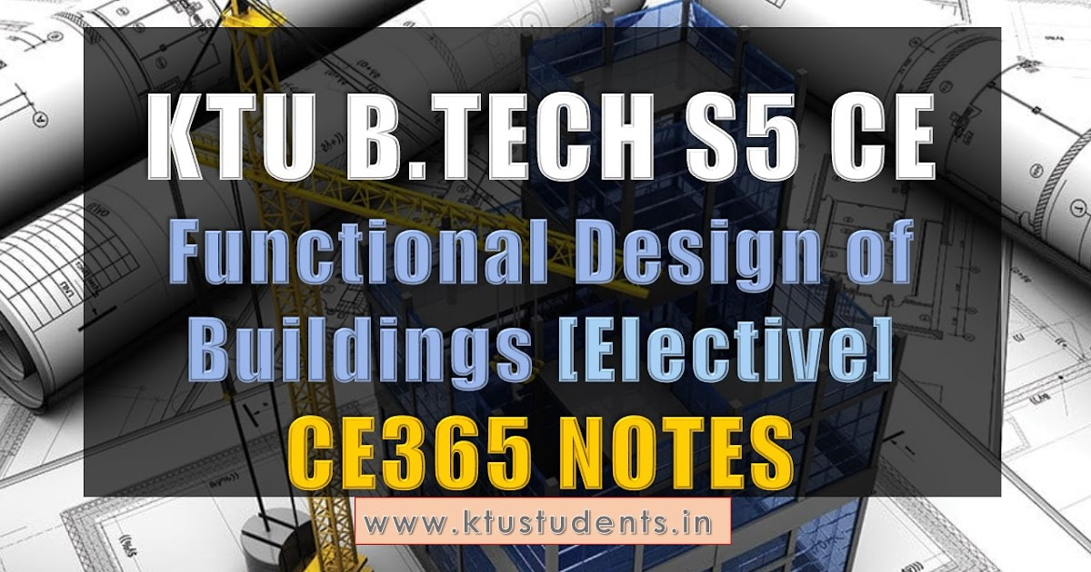 Ce365 Functional Design Of Buildings Note Module 1 And 2
