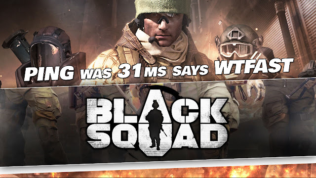 Black Squad Gameplay by Kabalyero! Ping was 31 ms says WTFAST!