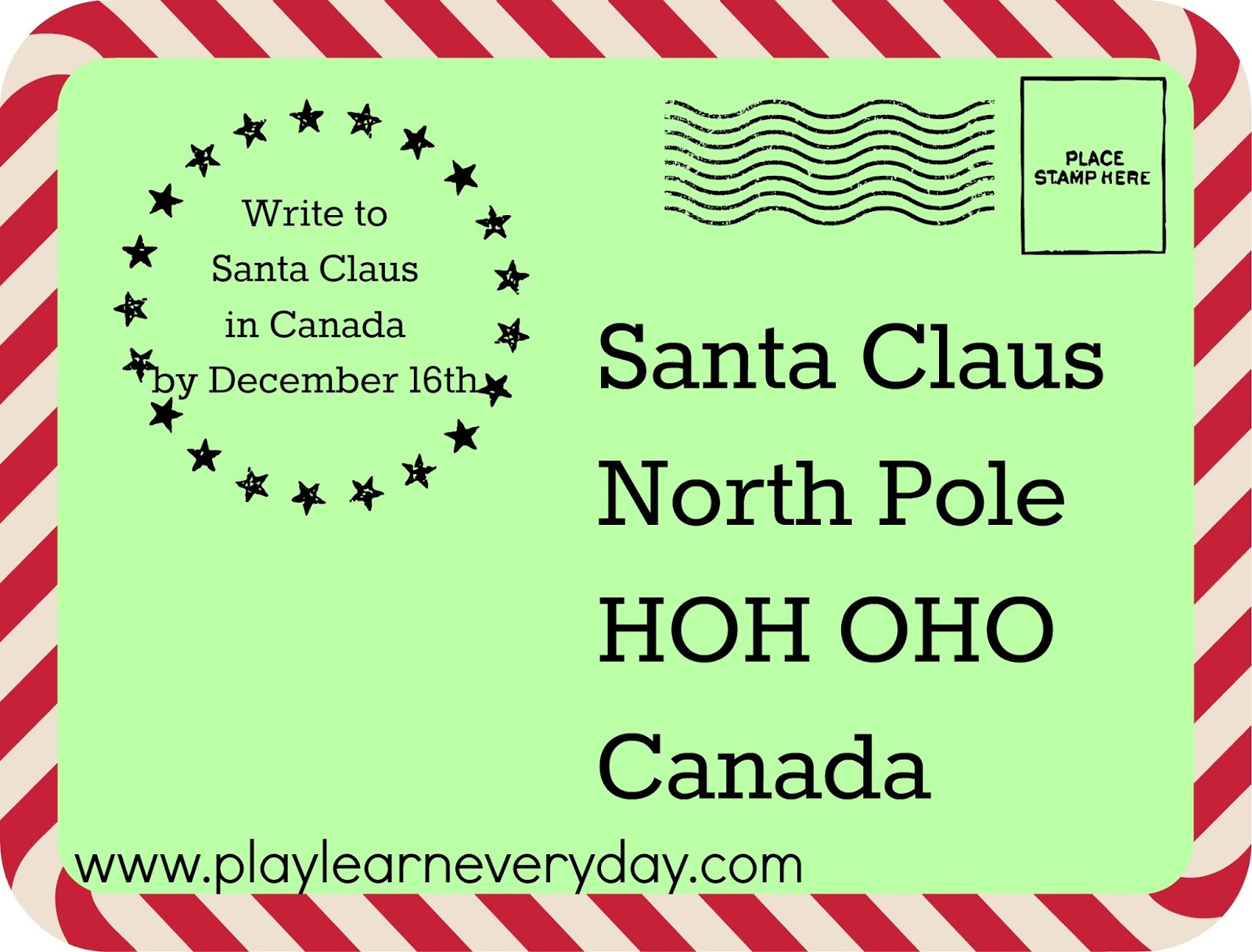 Printable Letter To Santa With The Rainy Day Printable Letter To
