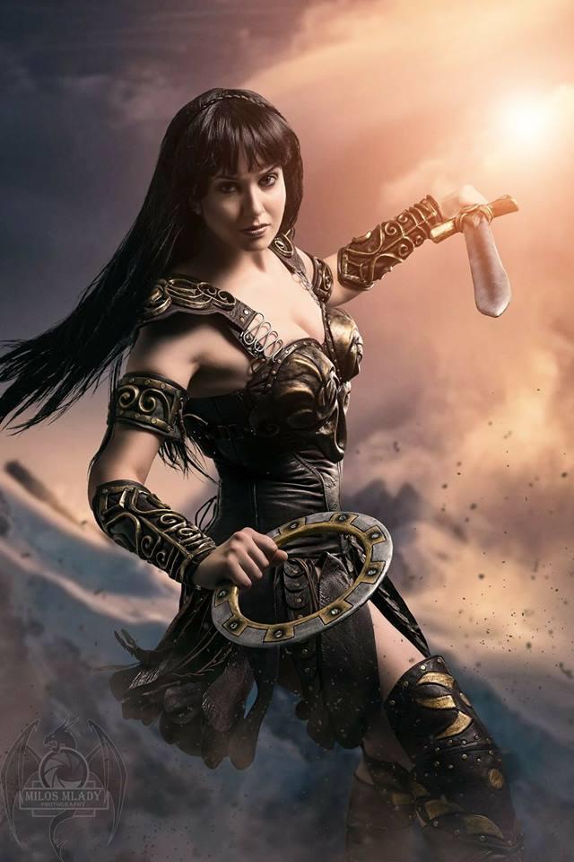 Germia con su genial cosplay de Xena la princesa guerrera