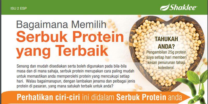 Bagaimana Memilih Serbuk Protein Yang Terbaik Shaklee
