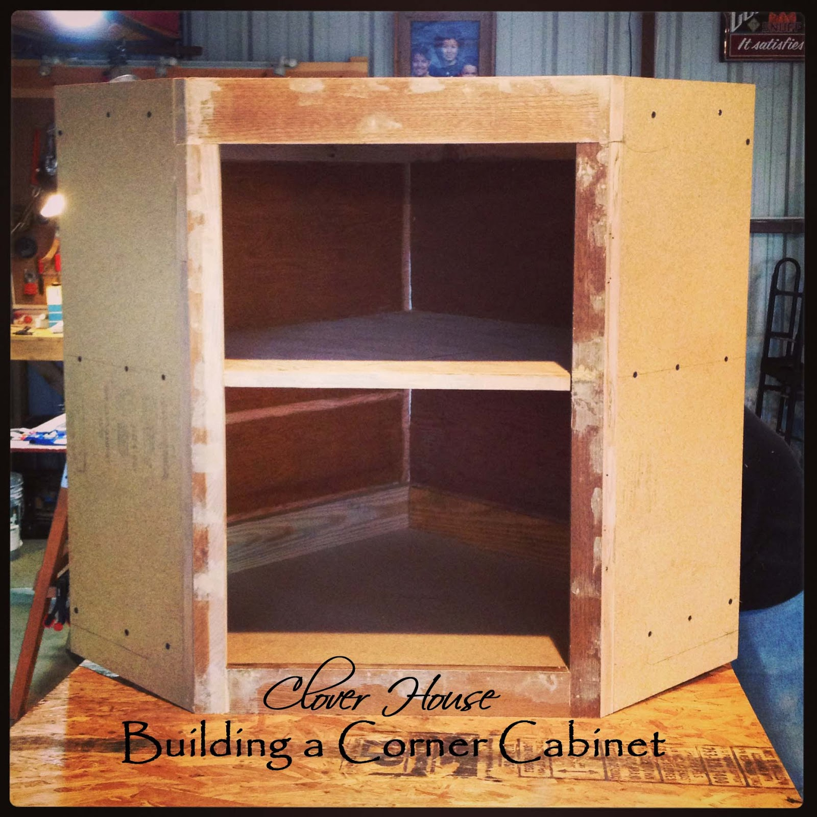 How To Build A Corner Kitchen Cabinet Clover House Building A Corner Cabinet