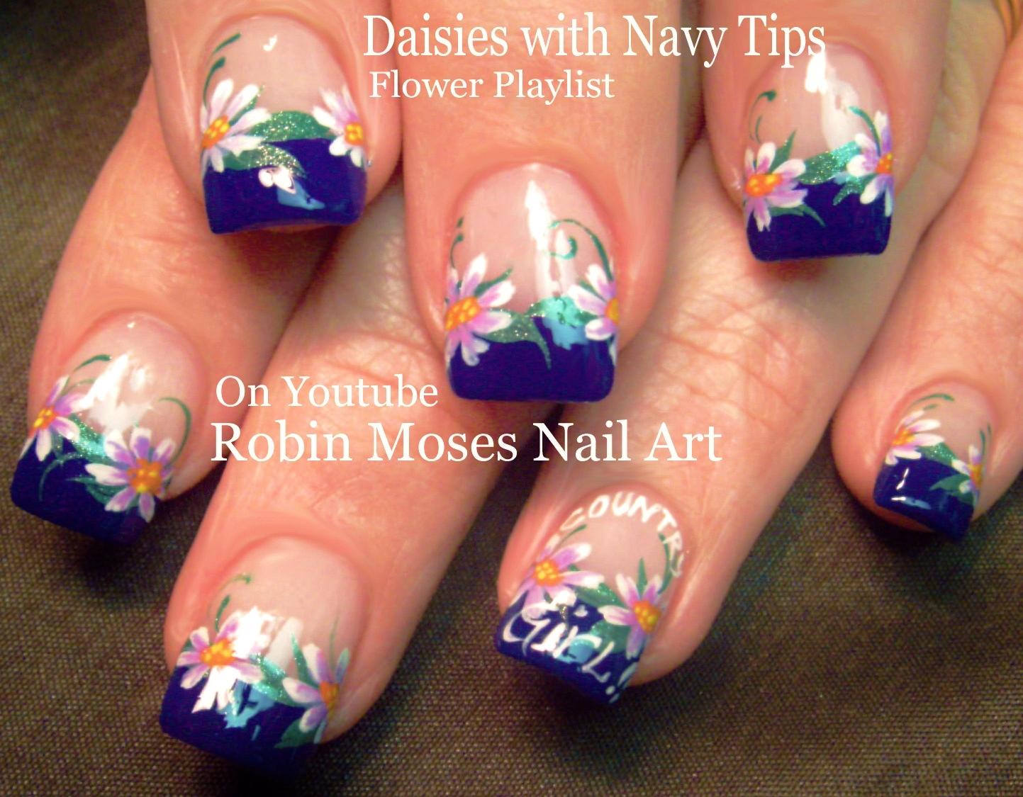 Robin Moses Nail Art 42 Daisy Nail Art Designs In My New