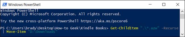 نقل الملفات في PowerShell.