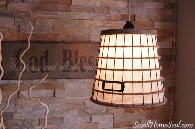metal basket lamp shade pendant