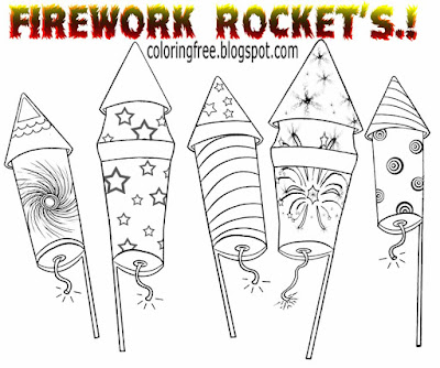 Firecracker easy Guy Fawkes clip art bonfire night firework coloring pages rocket drawing for kids