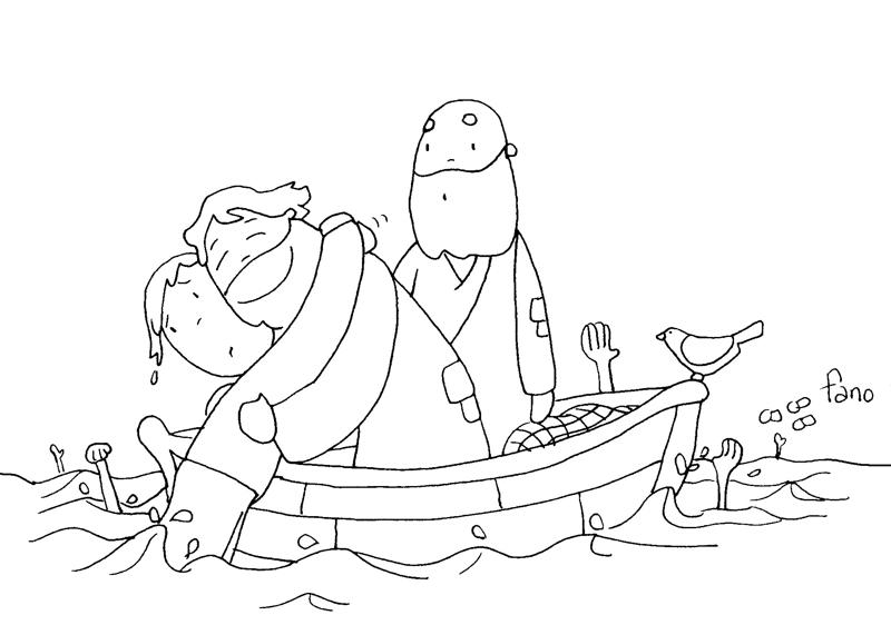 Dibujos Para Colorear Un Pescador: Educar Con Jesús: TOB3º Por Fano