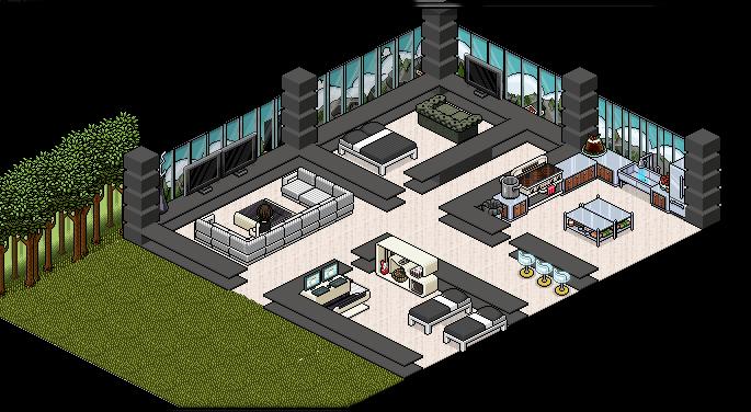Casas para habbo casa moderna 1 for Casa moderna habbo
