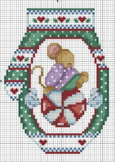 addobbi a punto croce per albero di natale-schema natale cross stitch free