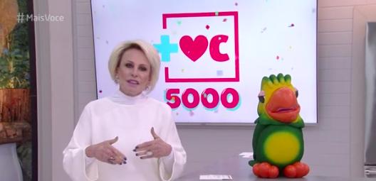 """""""Mais Você"""" celebra 5000 programas e consolida Ana Maria Braga como rainha das manhãs"""