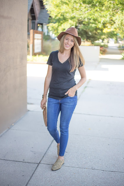 Laid Back With a Cute Black Tee by Colorado fashion blogger Eat Pray Wear Love