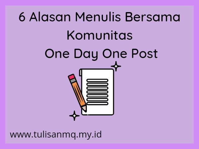 Alasan menulis