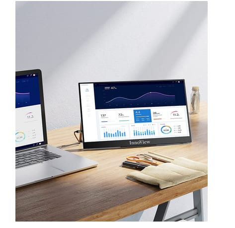 InnoView INVPM001 Ultra Slim Portable Monitor for Laptop