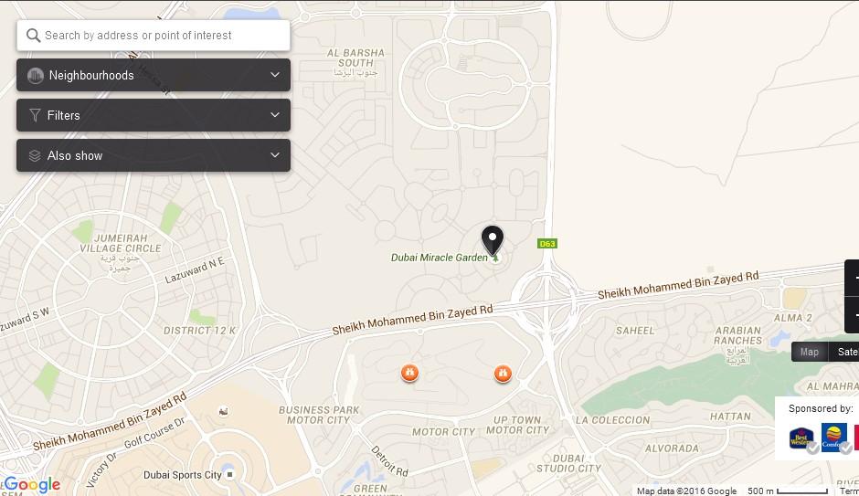miracle garden dubai map dubai tourists destinations and