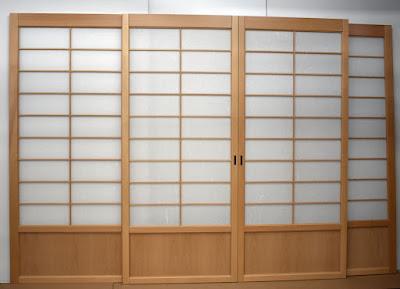 Shoji screens for double pocket