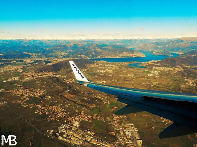ryanair vista sul lago d'iseo