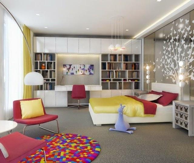 Habitaciones juveniles con paredes decoradas ideas para decorar dormitorios - Paredes habitacion juvenil ...