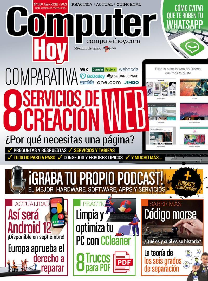 Computer Hoy Nro. 588: 8 Servicios de creación web – 2021
