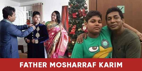 Mosharraf Karim with his son and wife image