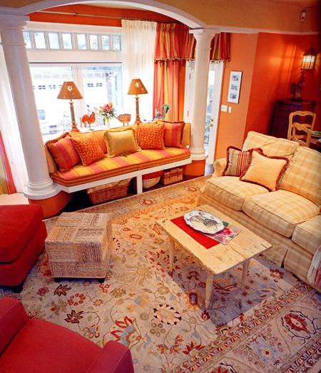 Candice Olson Office Design: B.E. Interiors: Red Surprise
