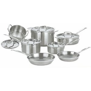 Cheap Cuisinart Stainless Steel Cookware Set