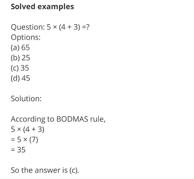 Best Example For Bodmas