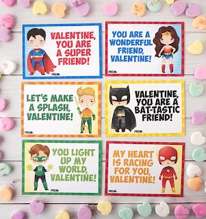 free superhero valentines