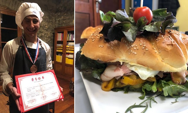 """Estudiante de UTU gana concurso en China cocinando un """"Chivito al pan"""""""