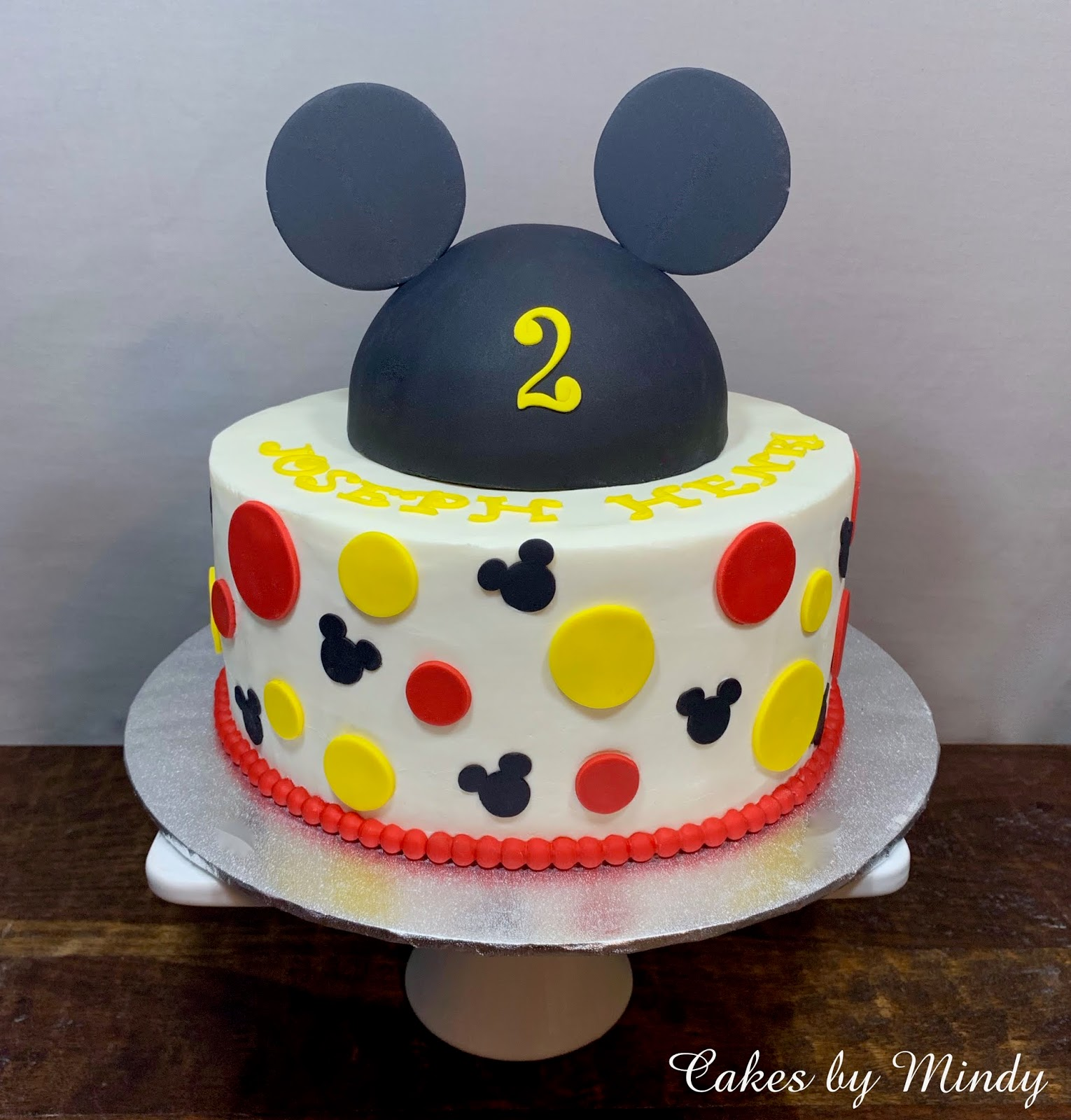 Astounding Cakes By Mindy Mickey Mouse Birthday Cake 10 Personalised Birthday Cards Bromeletsinfo
