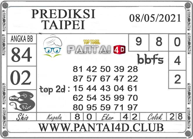 PREDIKSI TOGEL TAIPEI PANTAI4D 08 MEI 2021