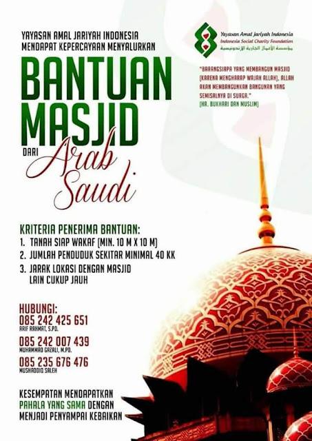 tempat anda butuh mesjid? perwakilan arab saudi di indonesia siap membantu