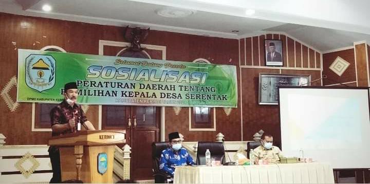 Sekda Asraf Buka Sosialisasi Perda Pilkades Serentak Kabupaten Kerinci 2021