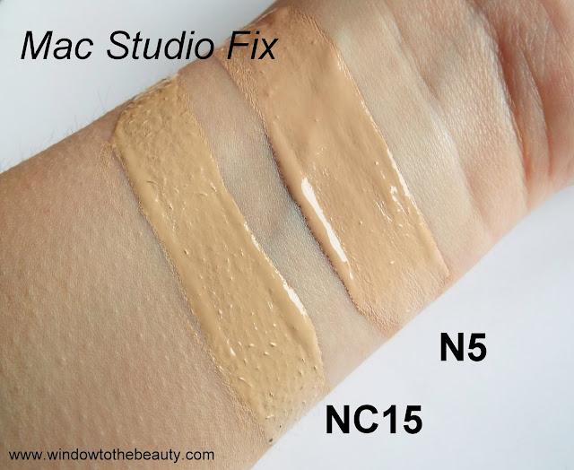 Mac Studio Fix n5 nc15 swatches