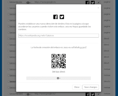 Códigos QR de Lanza.me